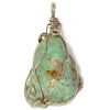 Turquoise Natural 30x40mm Wired Pendant Semi-Precious